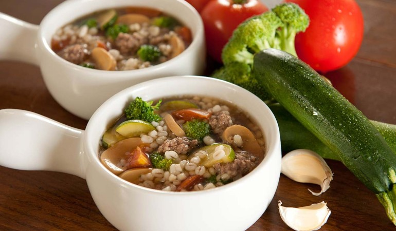 Barley, Beef & Broccoli Soup