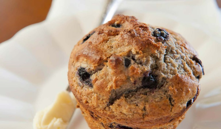Blueberry Barley Muffins