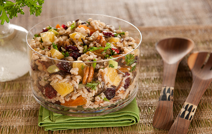 Wild Rice, Barley and Fruit Salad