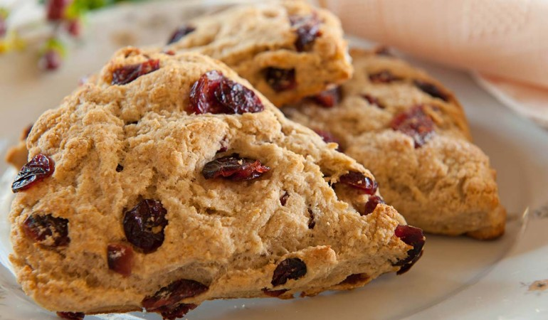 Yogurt Barley Fruit Scones