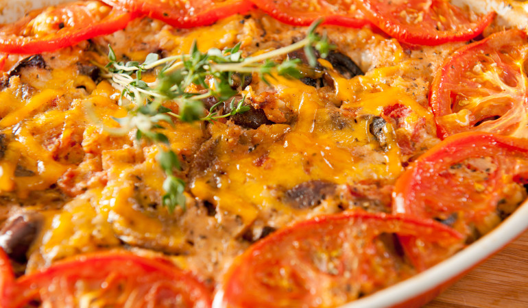 Cream Barley with Tomatoes and Mushrooms