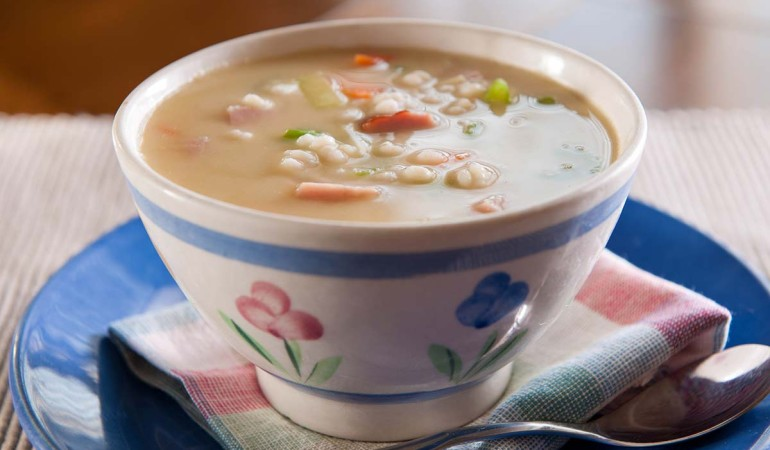 Creamy Ham and Leek Soup