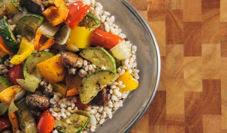 Roasted Vegetables and Barley