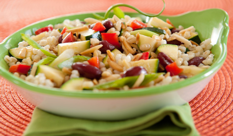 Zucchini, Bean and Almond Salad